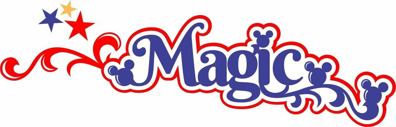 MAGIC VACATION LASER TITLE STRIP  Die Cut