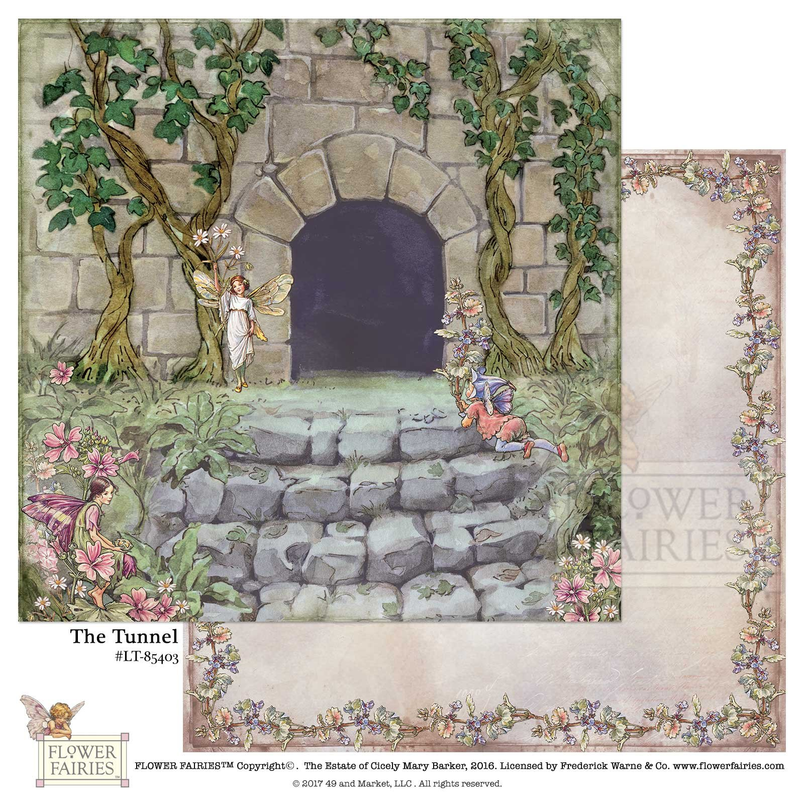 49 and Market Paper- Flower Fairies Looking Through: The Tunnel