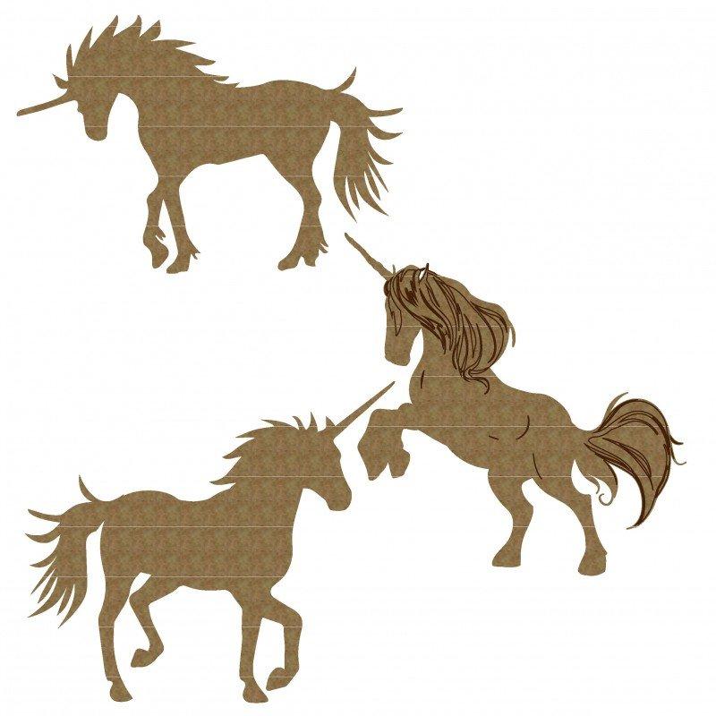 CE Chipboard- Unicorn