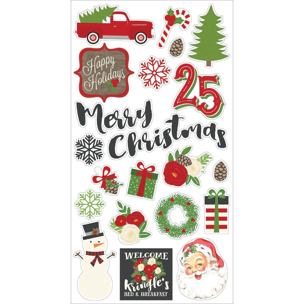 Simple Stories Very Merry Chipboard Stickers