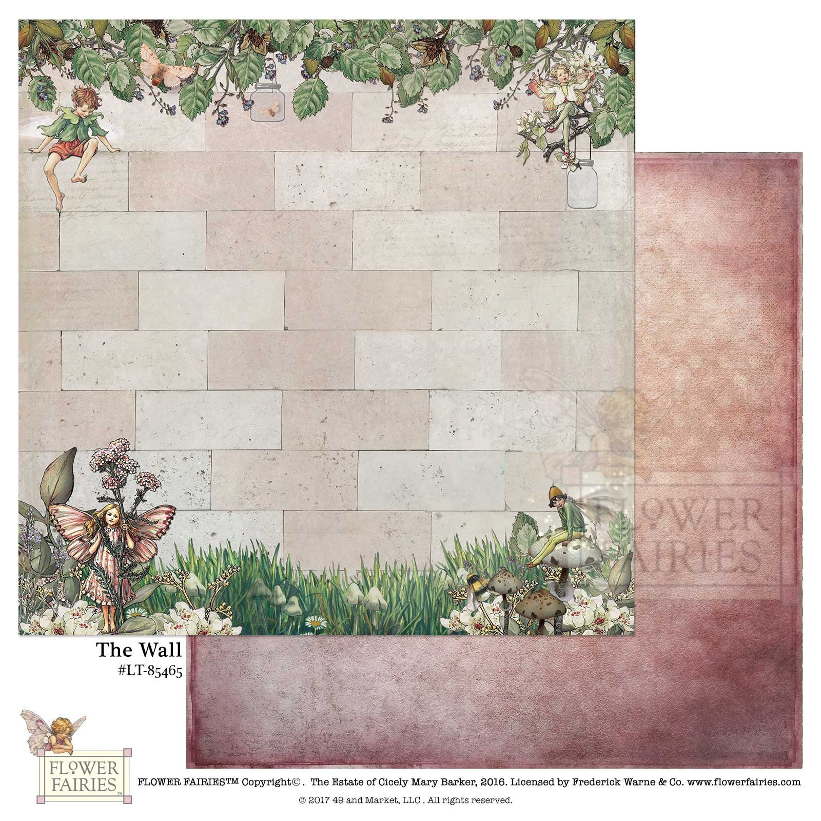 49 and Market Paper- Flower Fairies Looking Through: The Wall