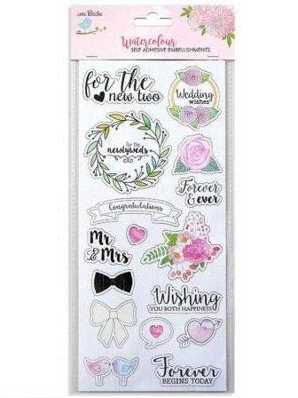 Water Color Sticker Collection Wedding - Little Birdie