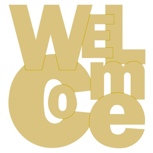Welcome Design by Line 18 MDF Cut Out