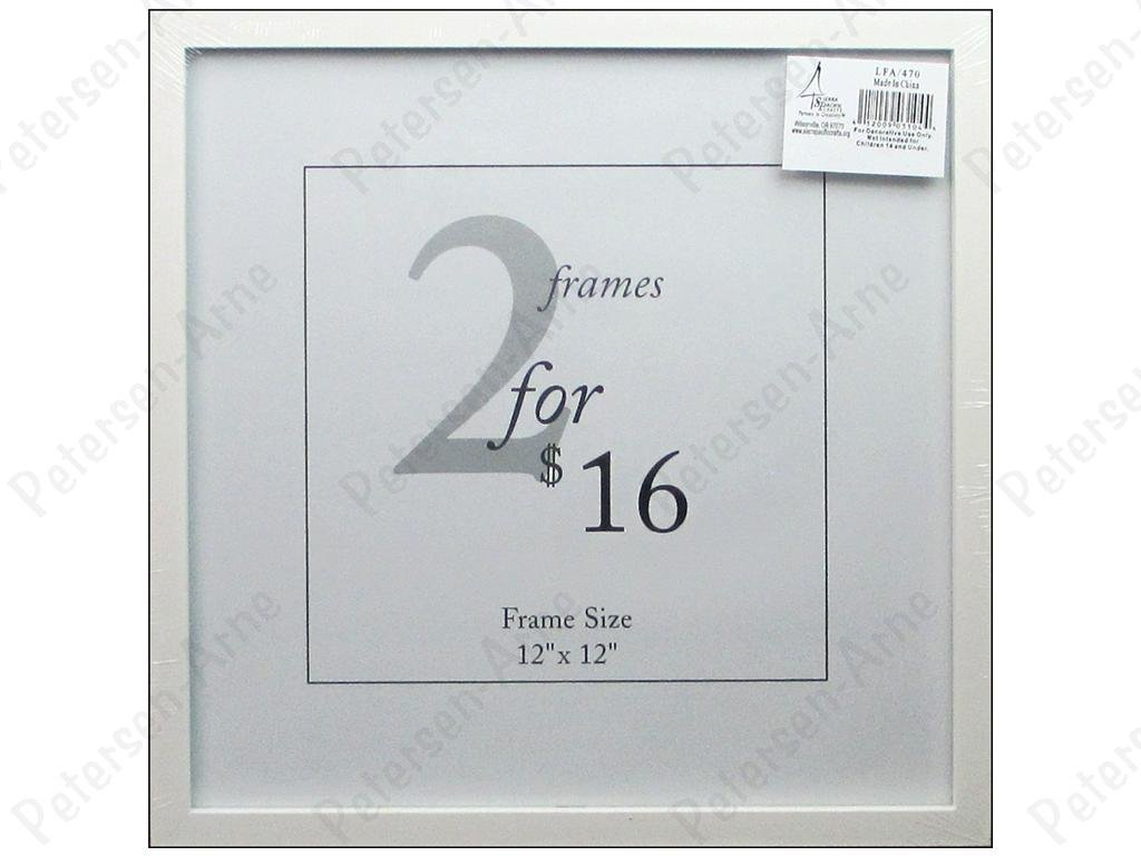 White Wood Frame with Easel back - 12X12 - 412009031044