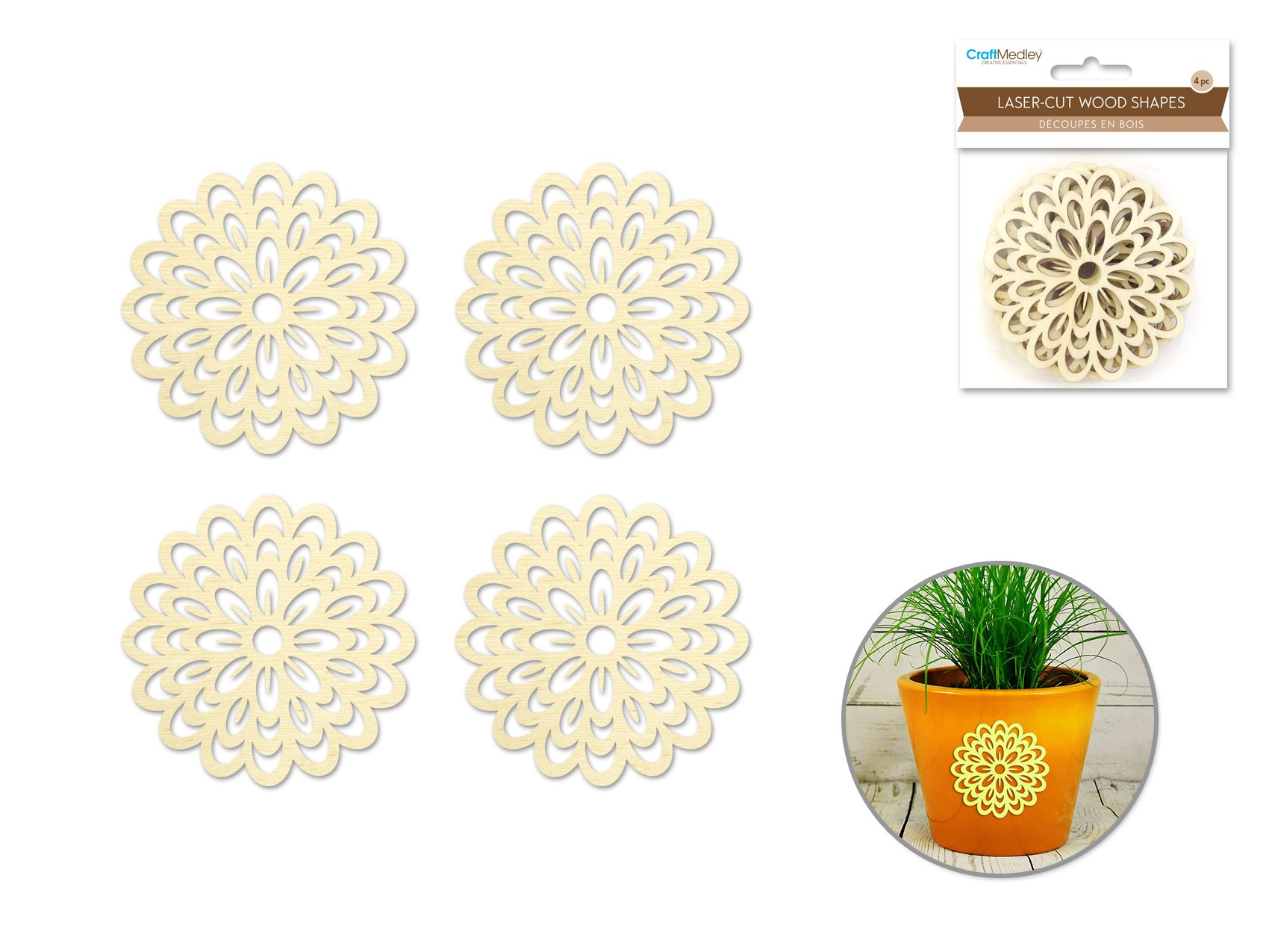 Flower- Laser Cut Wood Shapes