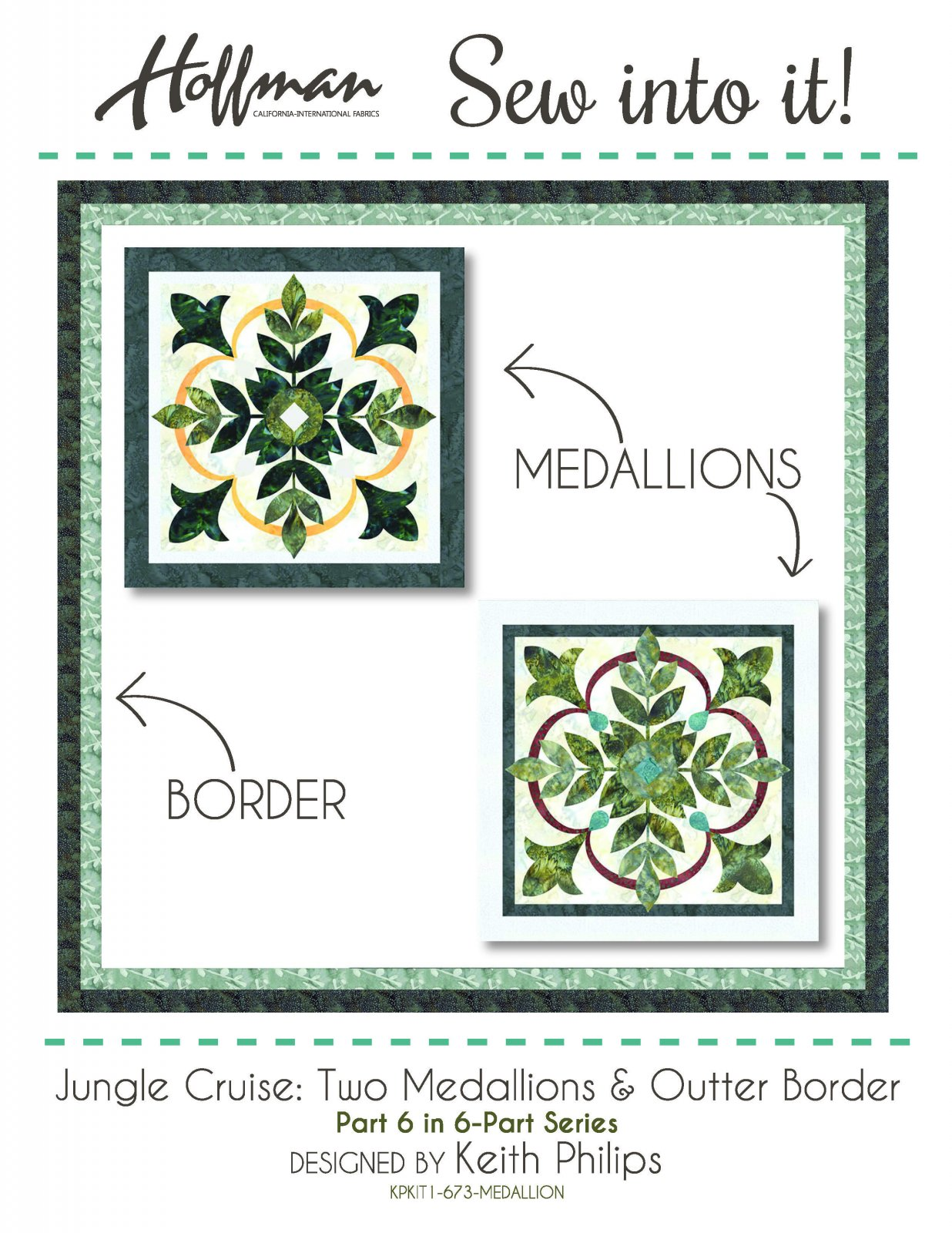 Jungle Cruise by Keith Phillips - Two Medallions Pattern