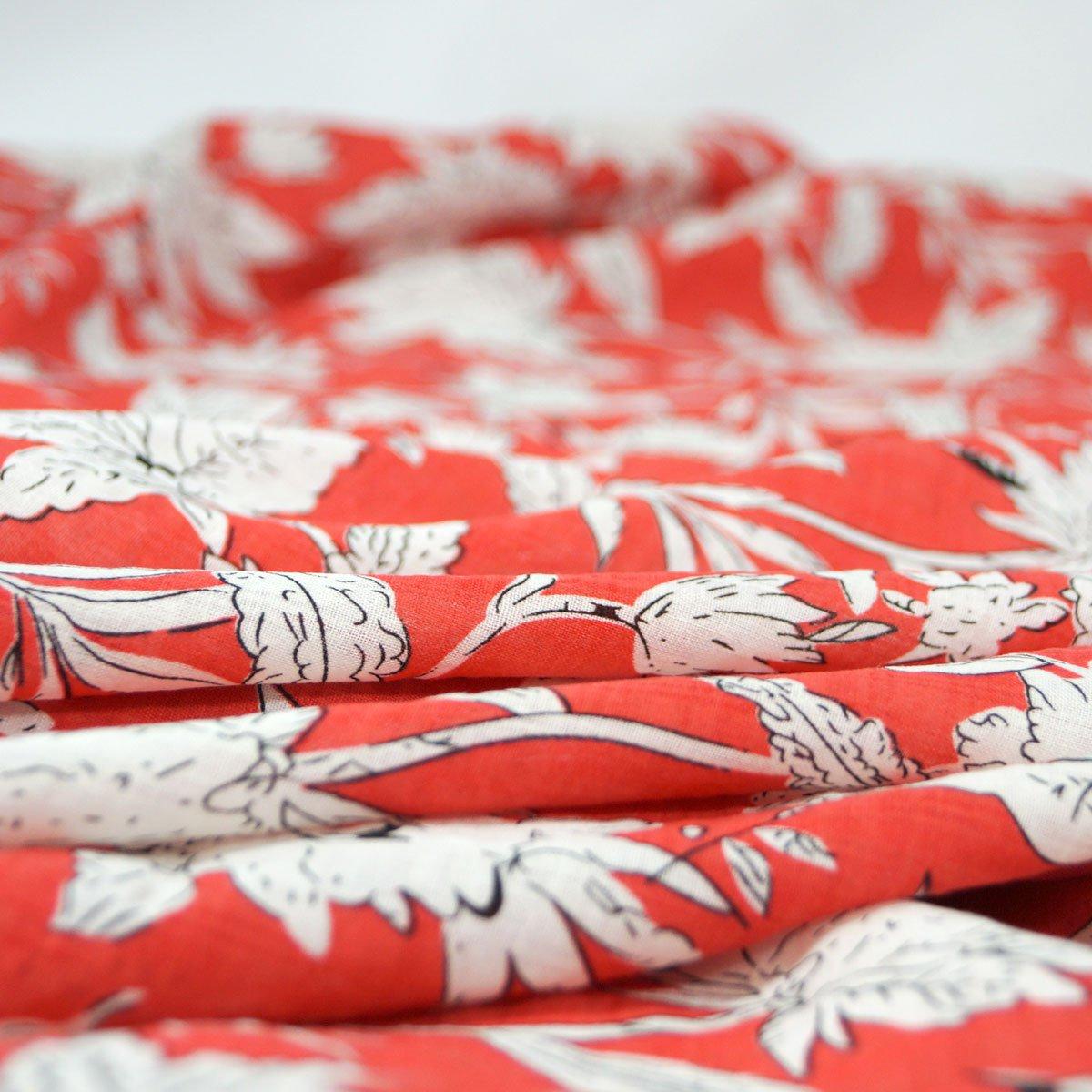 Verona Voile - Red & White
