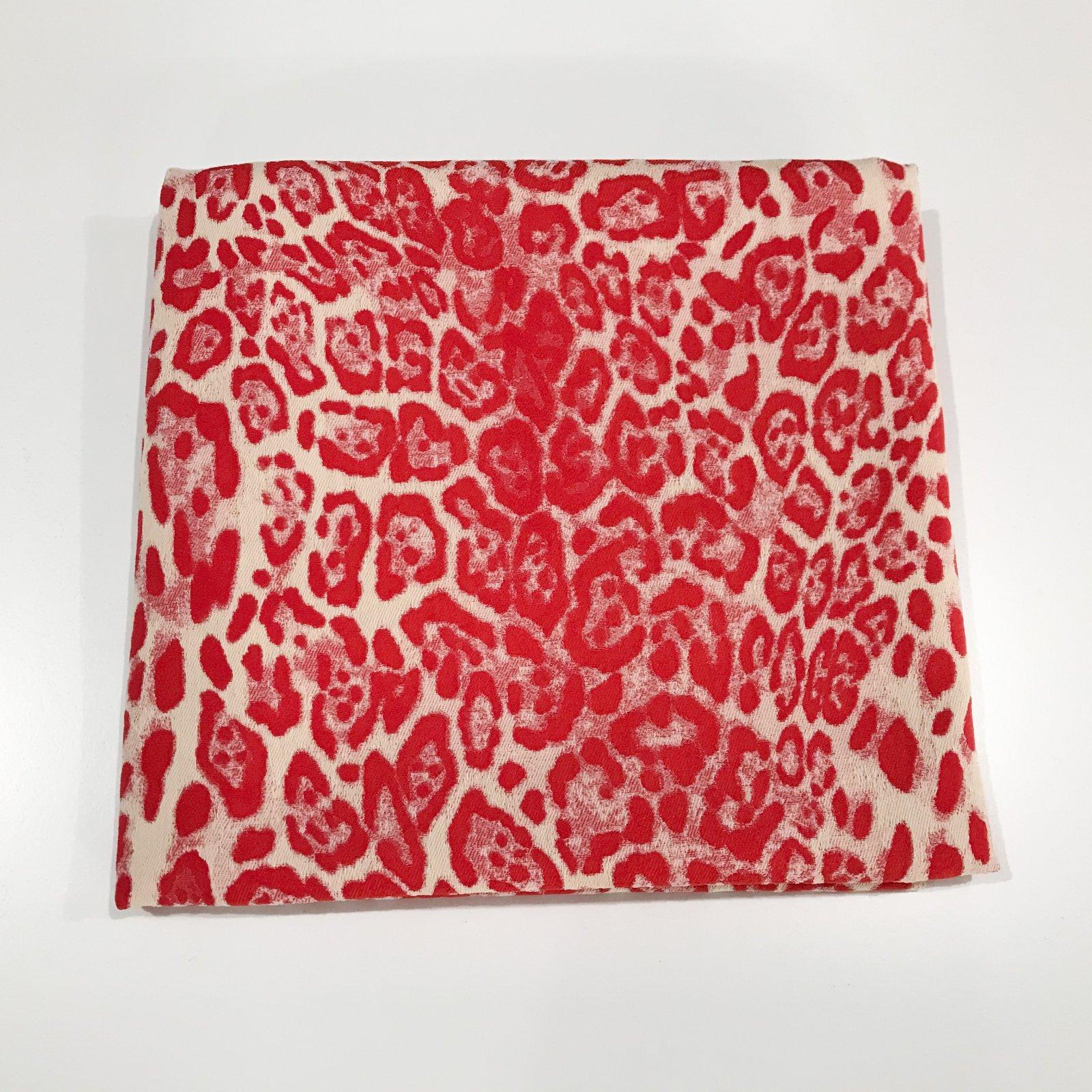 30 inches - Elie Tahari Blaze Red Leopard Jacquard