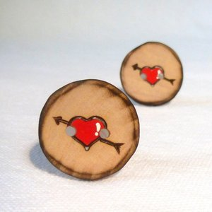 Buttons - Rustic Sweetheart Buttons