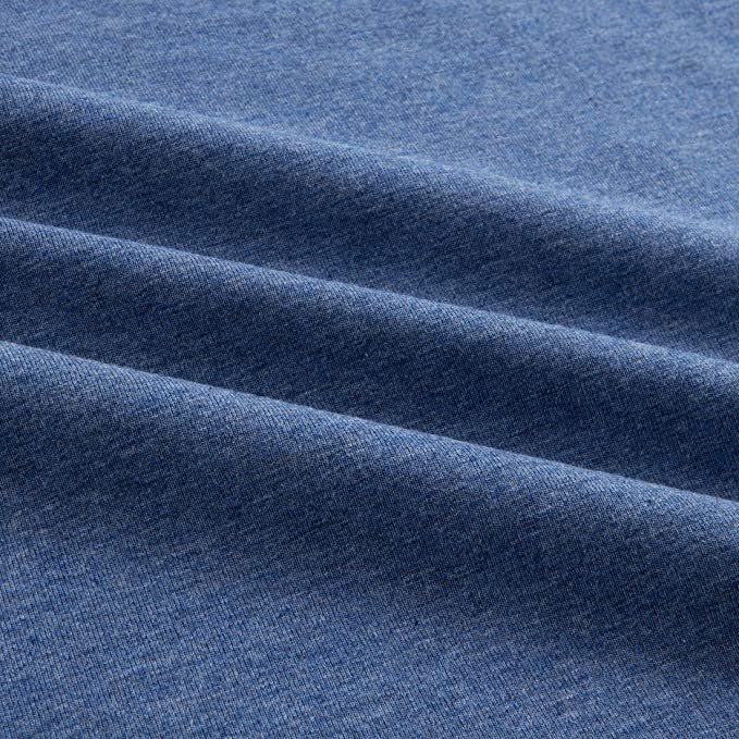 Cotton - Organic Cotton Jersey  Mélange Denim Blue
