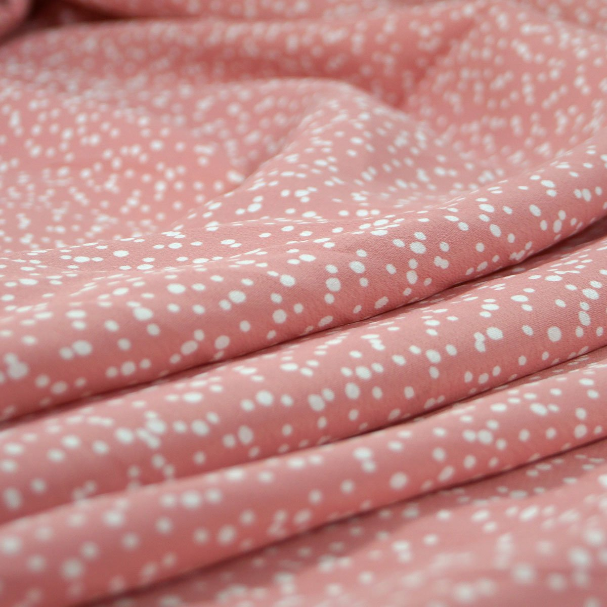 Rayon - Rose with White Dots