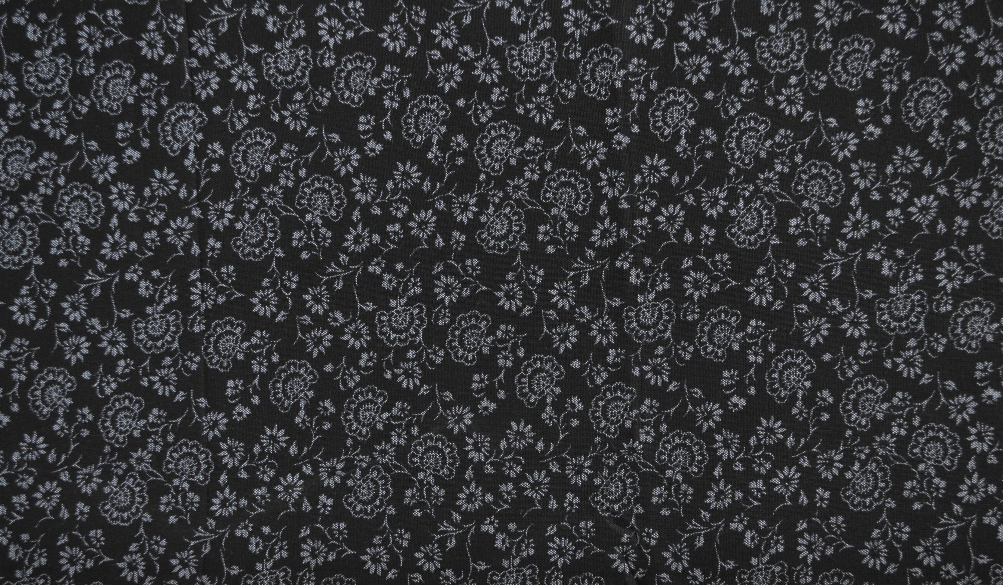Chambray - Black Floral
