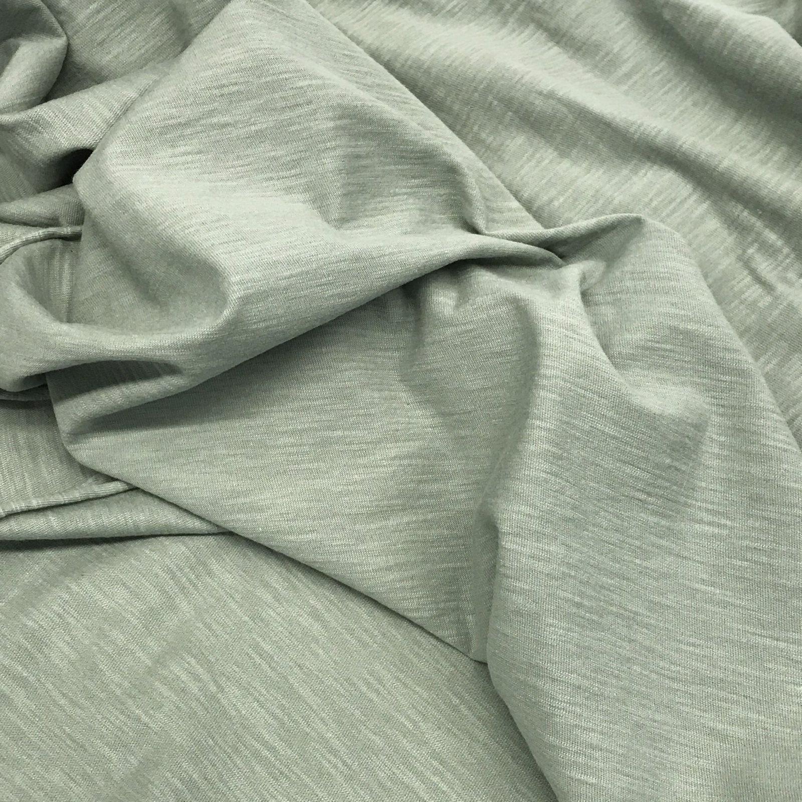 Cotton Slub Knit - Organic  Pistachio Green