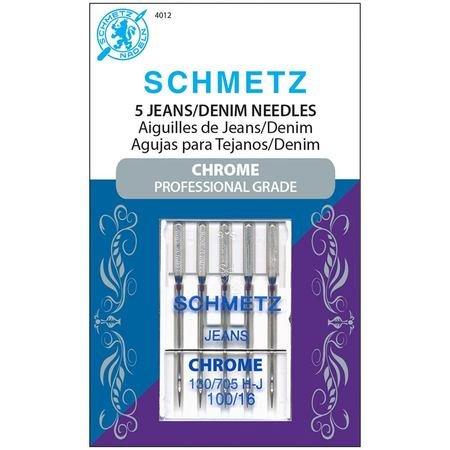 Chrome Denim Schmetz Needle 5 ct Size 100/16