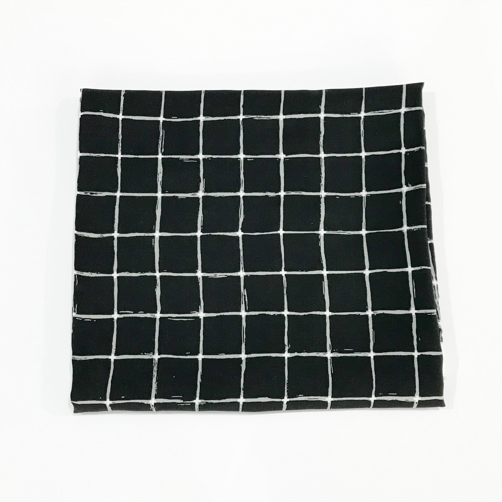 1 yard + 23 inches - Rayon Challis - AGF - Grid Negative