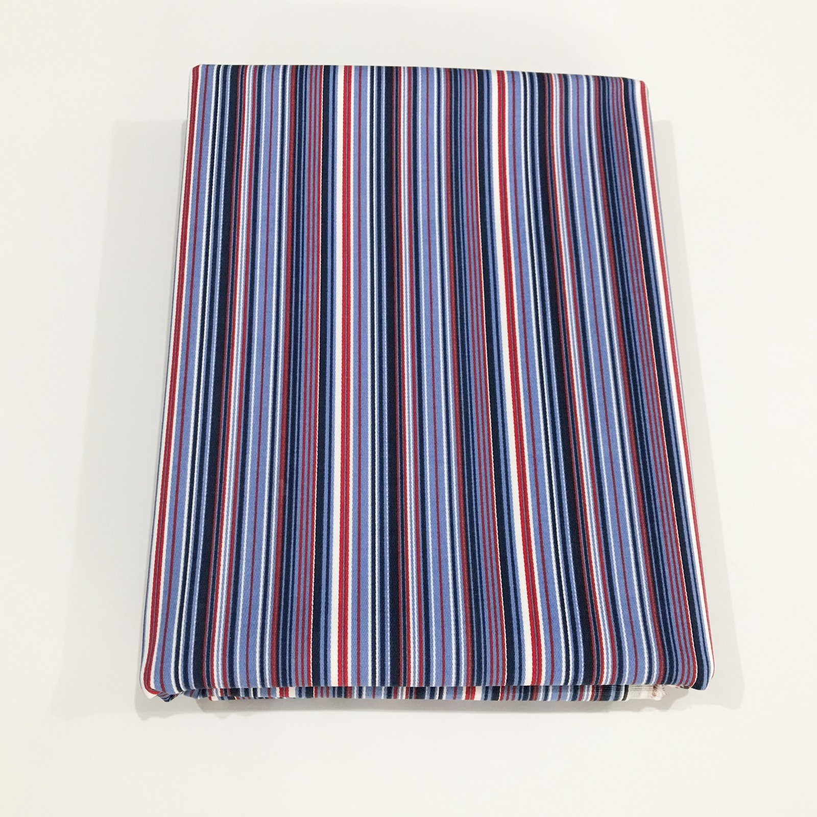 2 1/2 yards - Stretch Twill - 70's Red, White and Blue Stripe