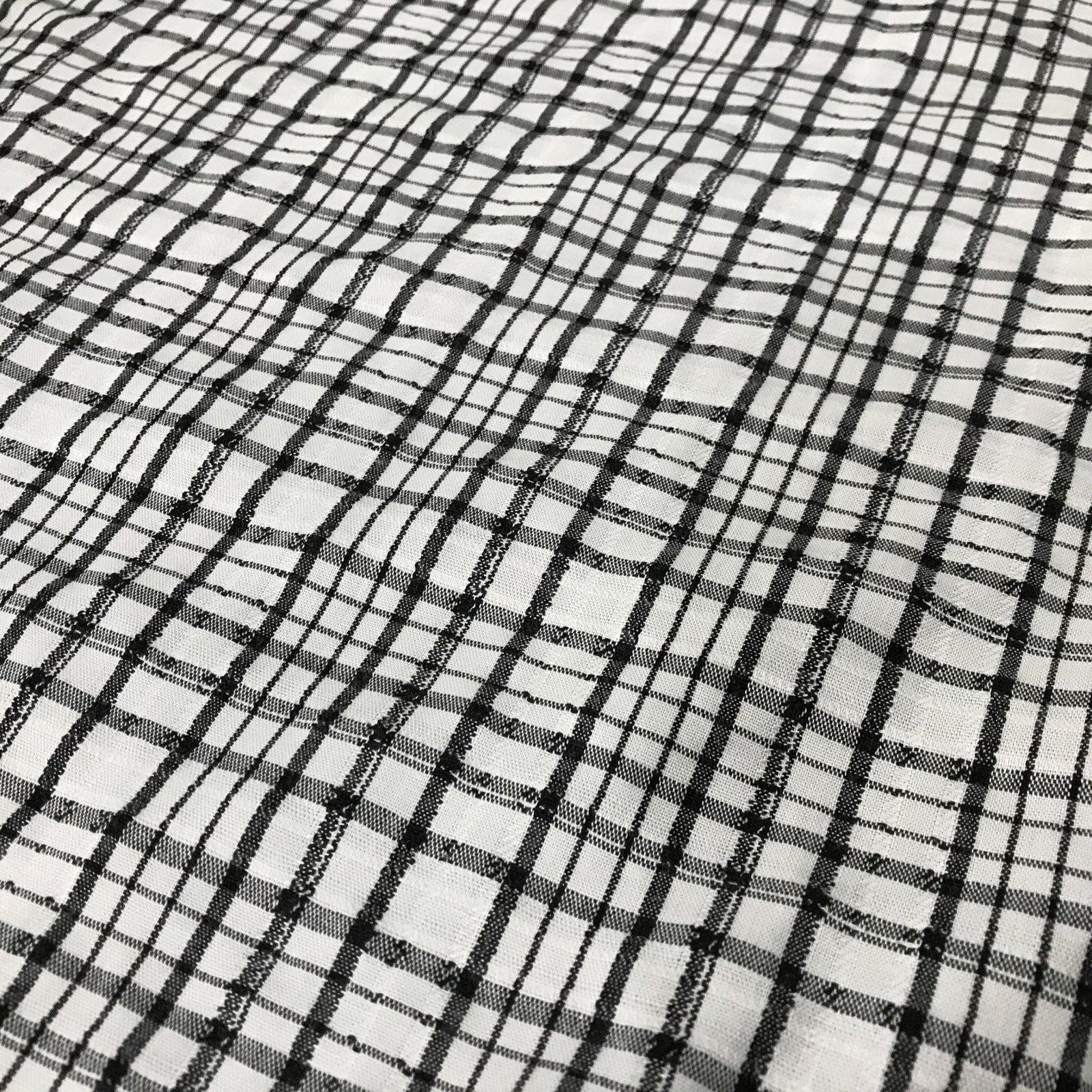 Black and Cream - Textured Plaid
