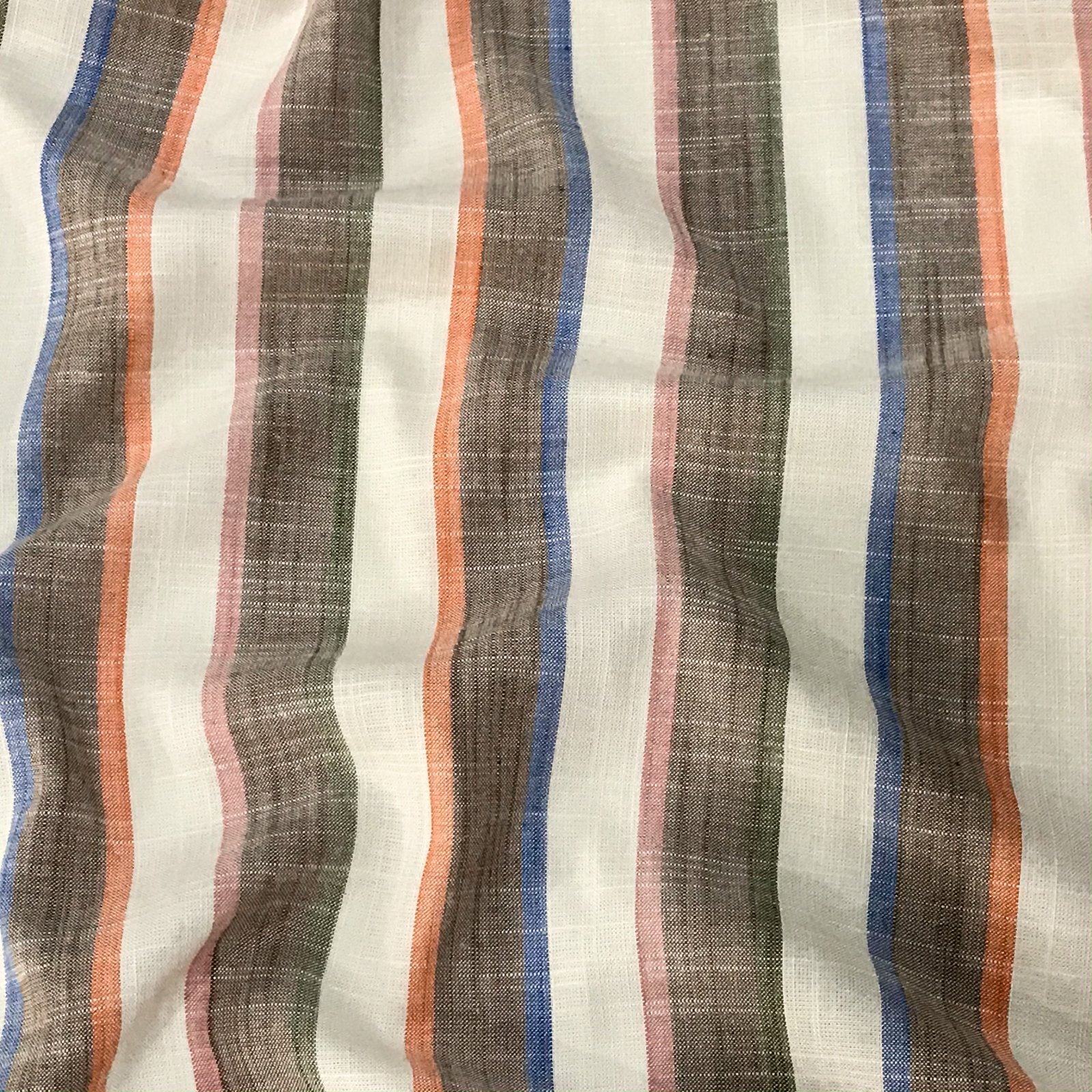 Rayon Stripes - Mocha & Rainbow