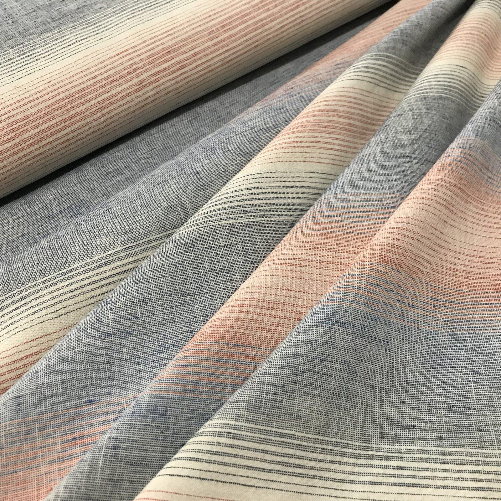 Linen & Cotton Blend - Summer Stripes