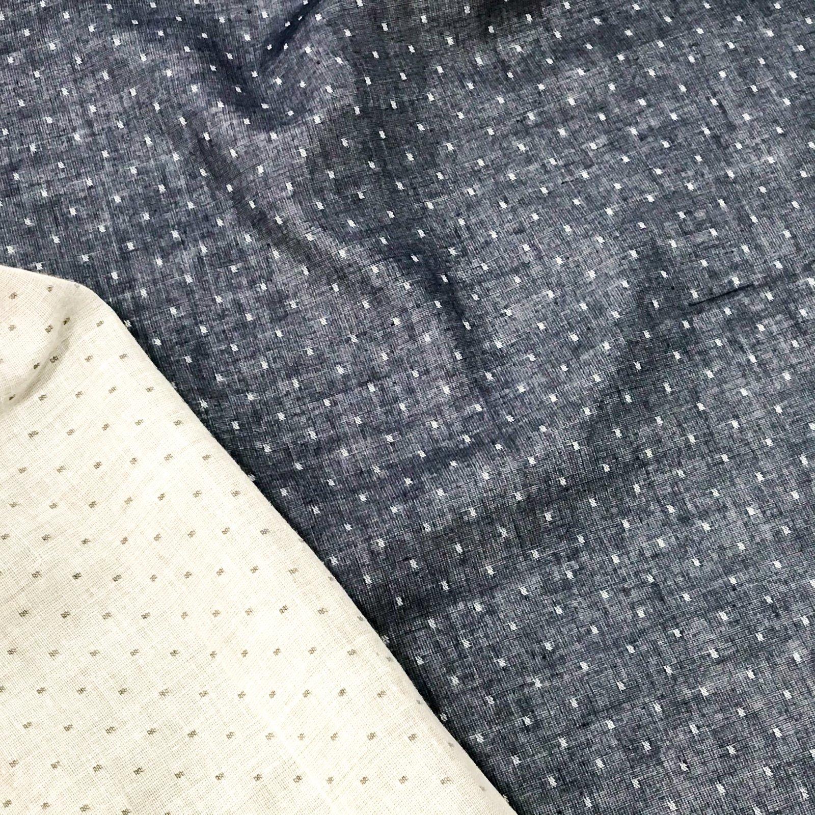 Cotton Double Gauze - Denim Dots
