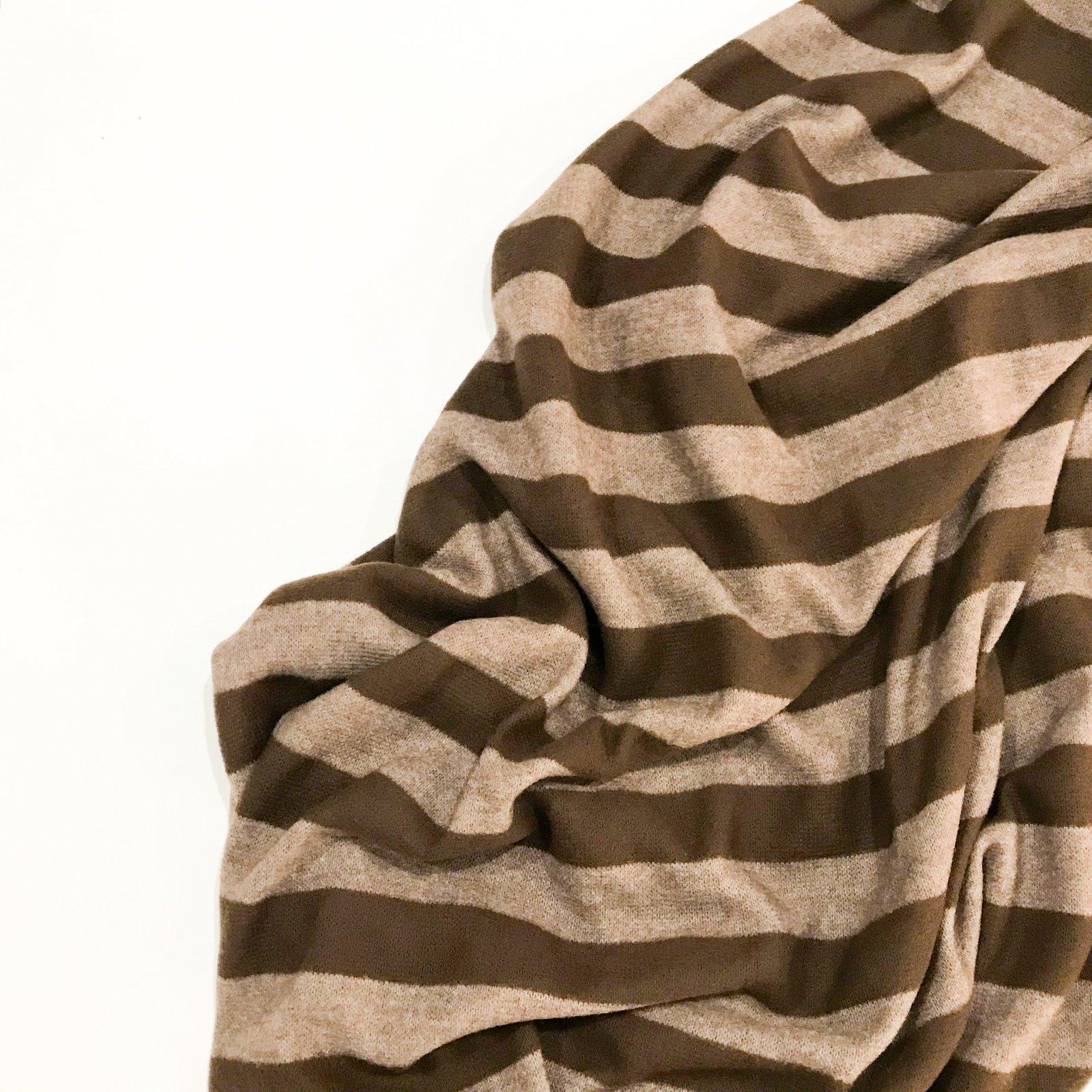 Sweater Knit - Milk Chocolate Stripes