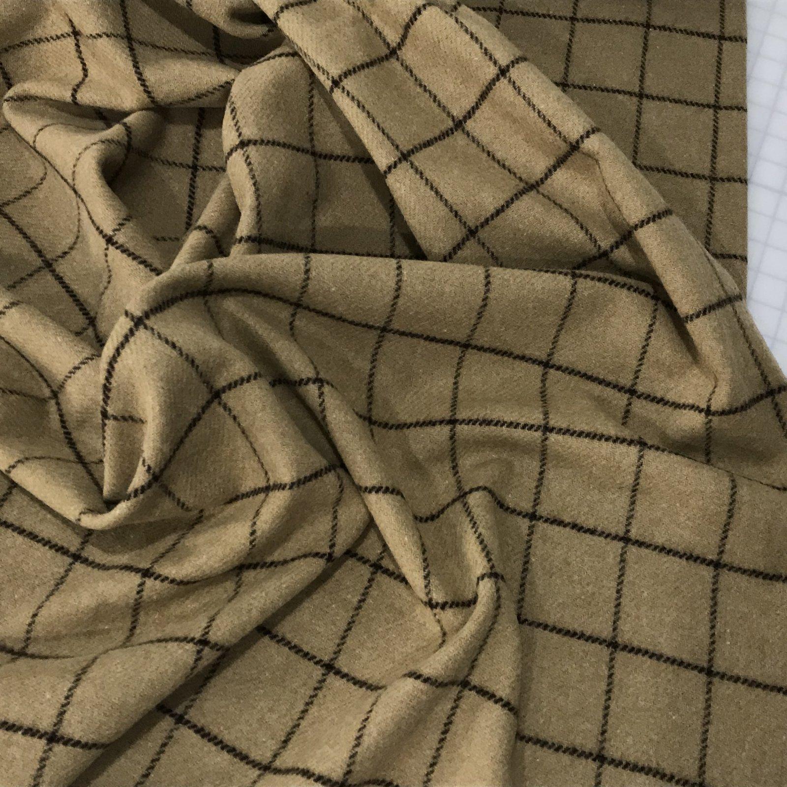 Woolrich - Windowpane Plaid Shetland - Tan/Brown