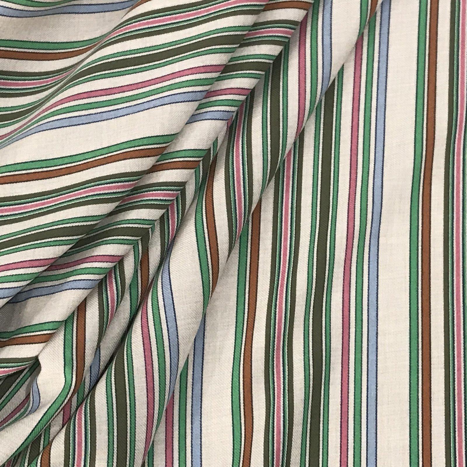 Viscose Stripes -  Jade & Pink