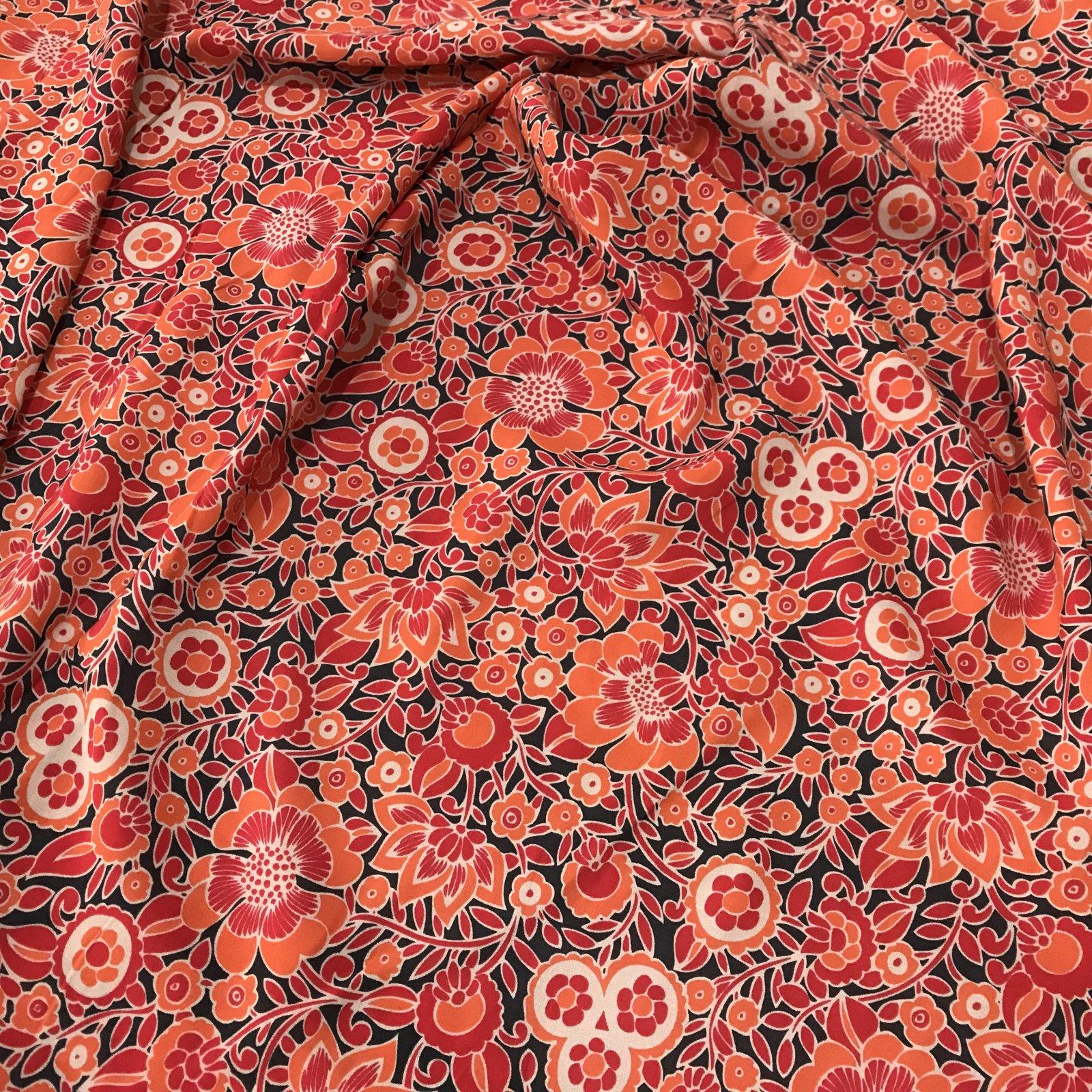 Rayon Challis - Bright Floral Print