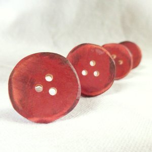 Buttons - Pomegranate Red Buttons