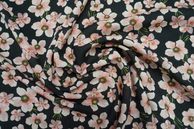 Viscose - Floral Chain - Pink