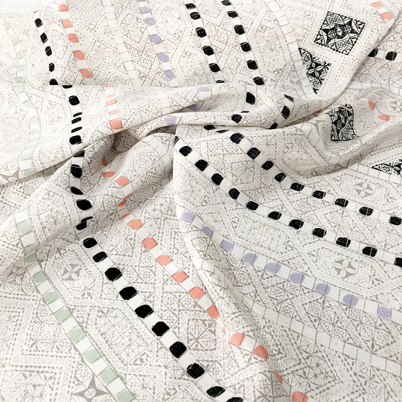 Four Featured Fabrics: Silk - Delicate Lattice