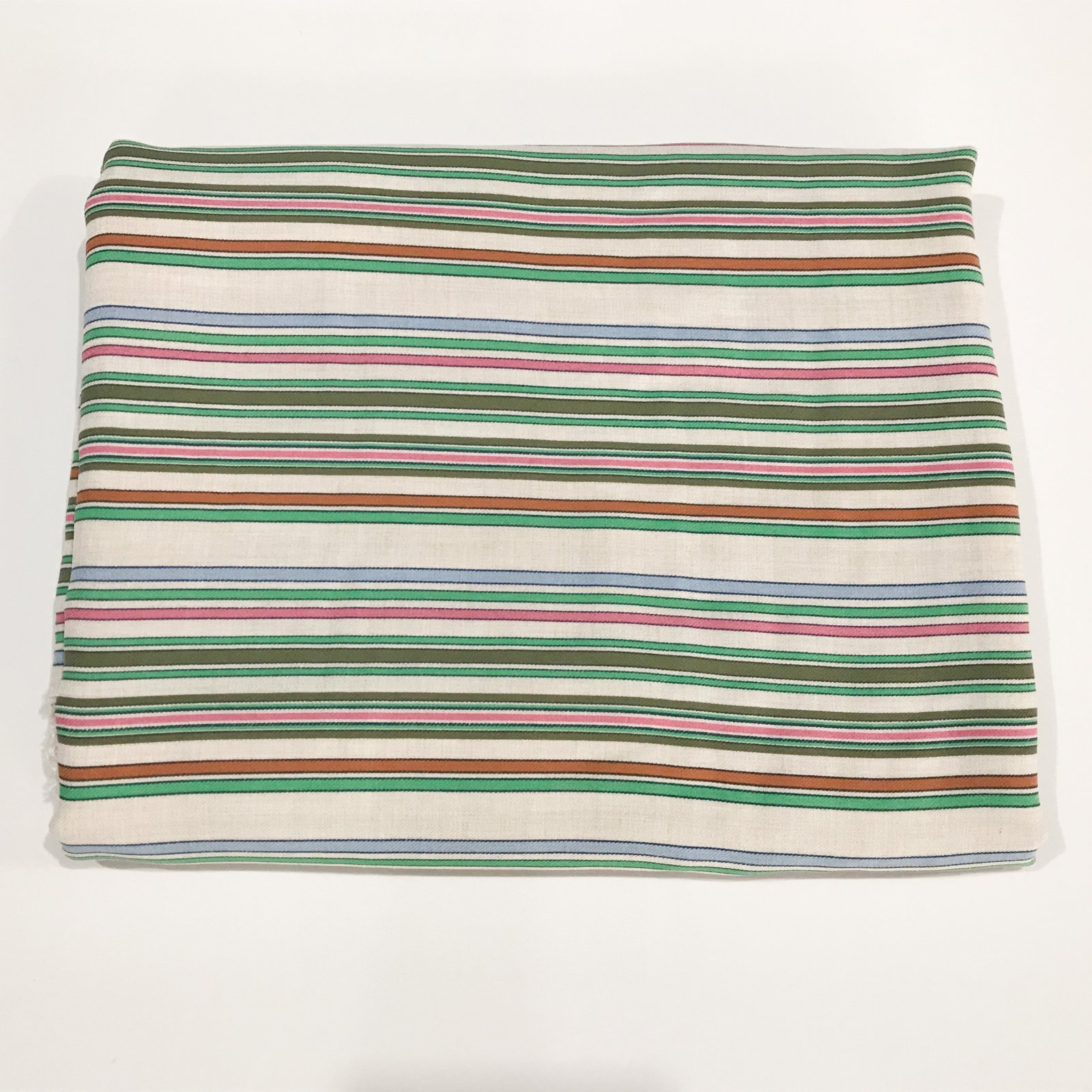 2 yards + 21 inches - Viscose Stripes in Jade and Pink