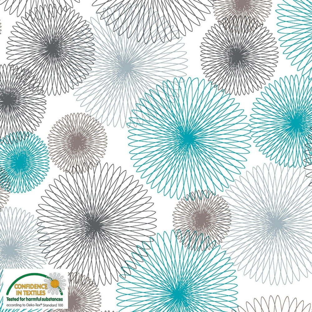 Avalana Jersey - Spirograph Sage and Gray
