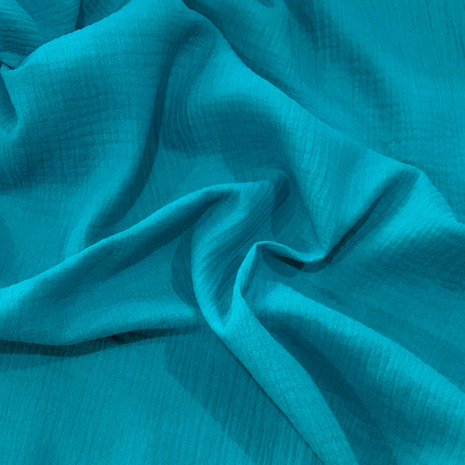 Cotton Double Gauze - Organic Teal