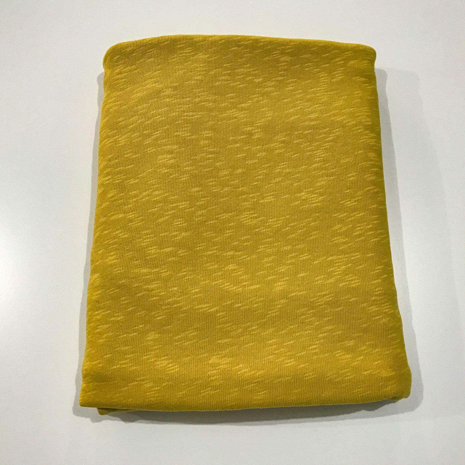 2 yards - Cotton Slub Knit - Mustard