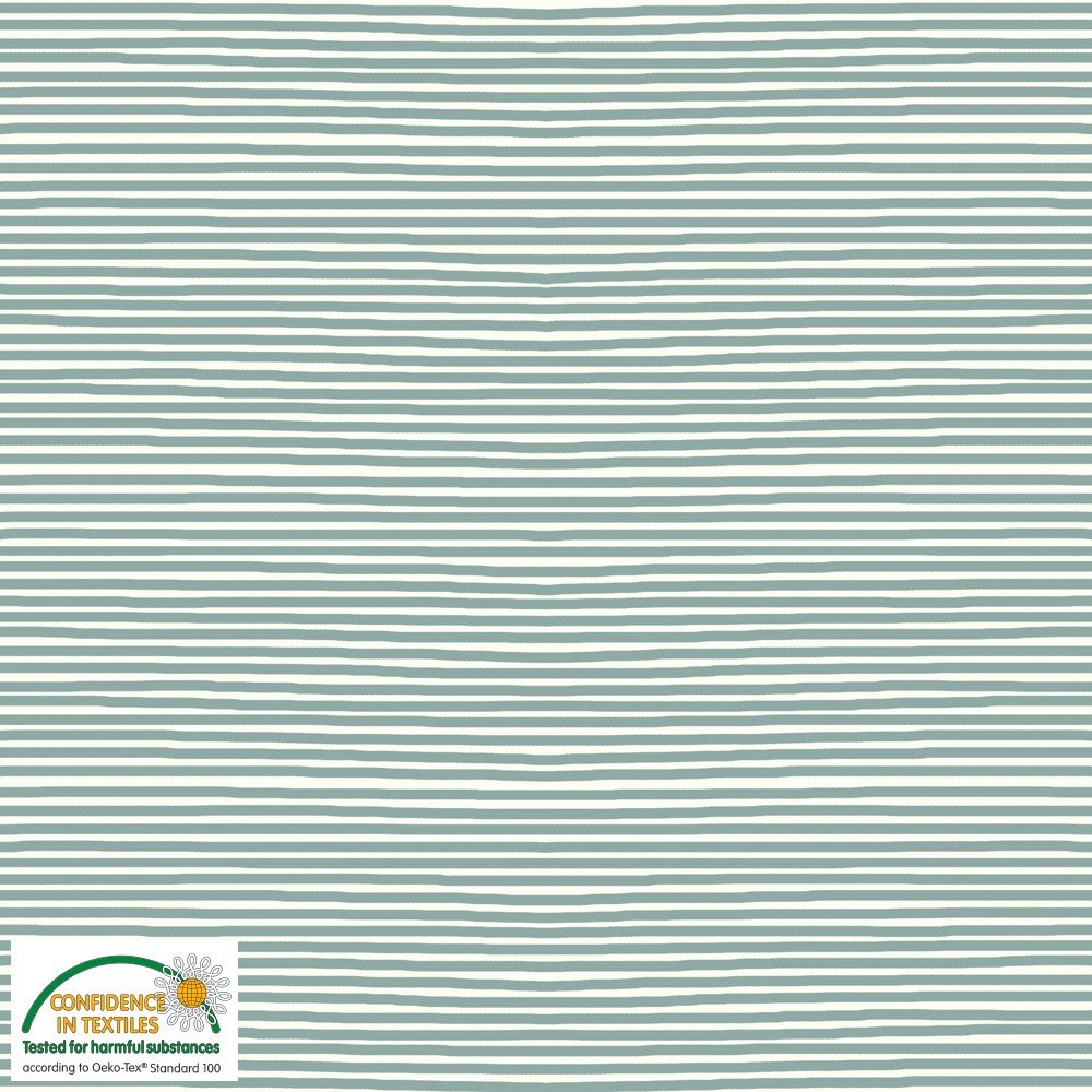 Avalana Jersey - Sage & White Stipes