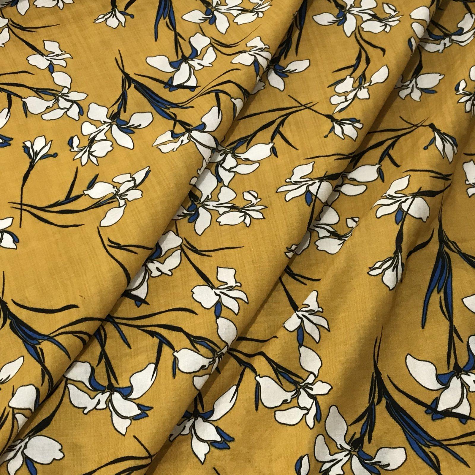 Verona Voile - Mustard Floral