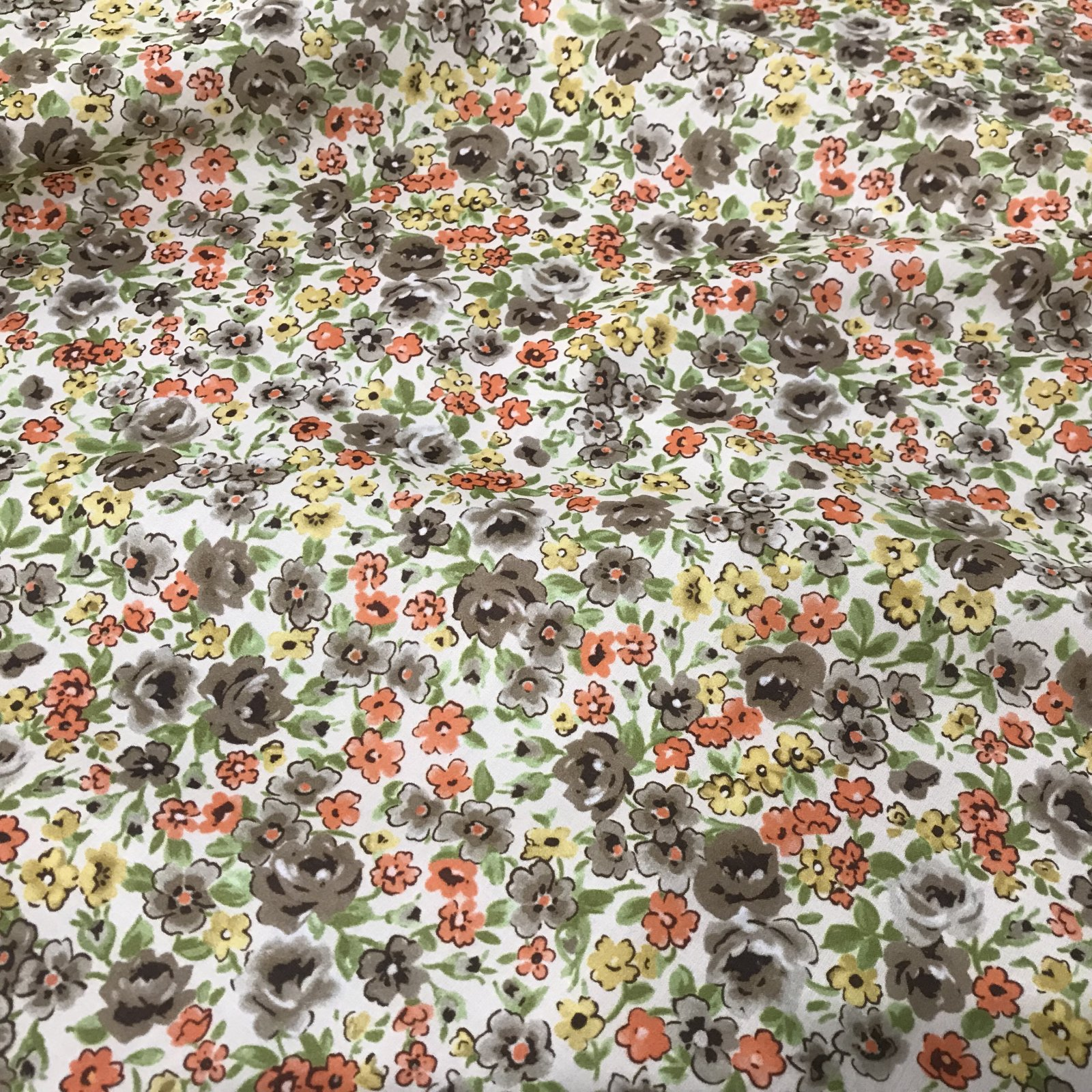 Cotton - Made in Italy - Yellow Floral