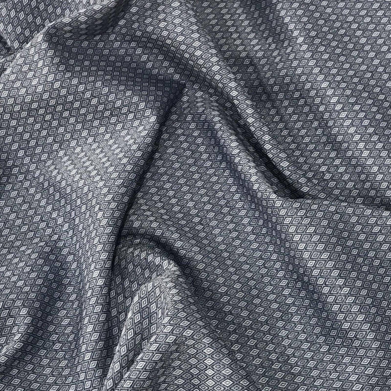 Four Featured Fabrics: Cotton - Blue Diamonds
