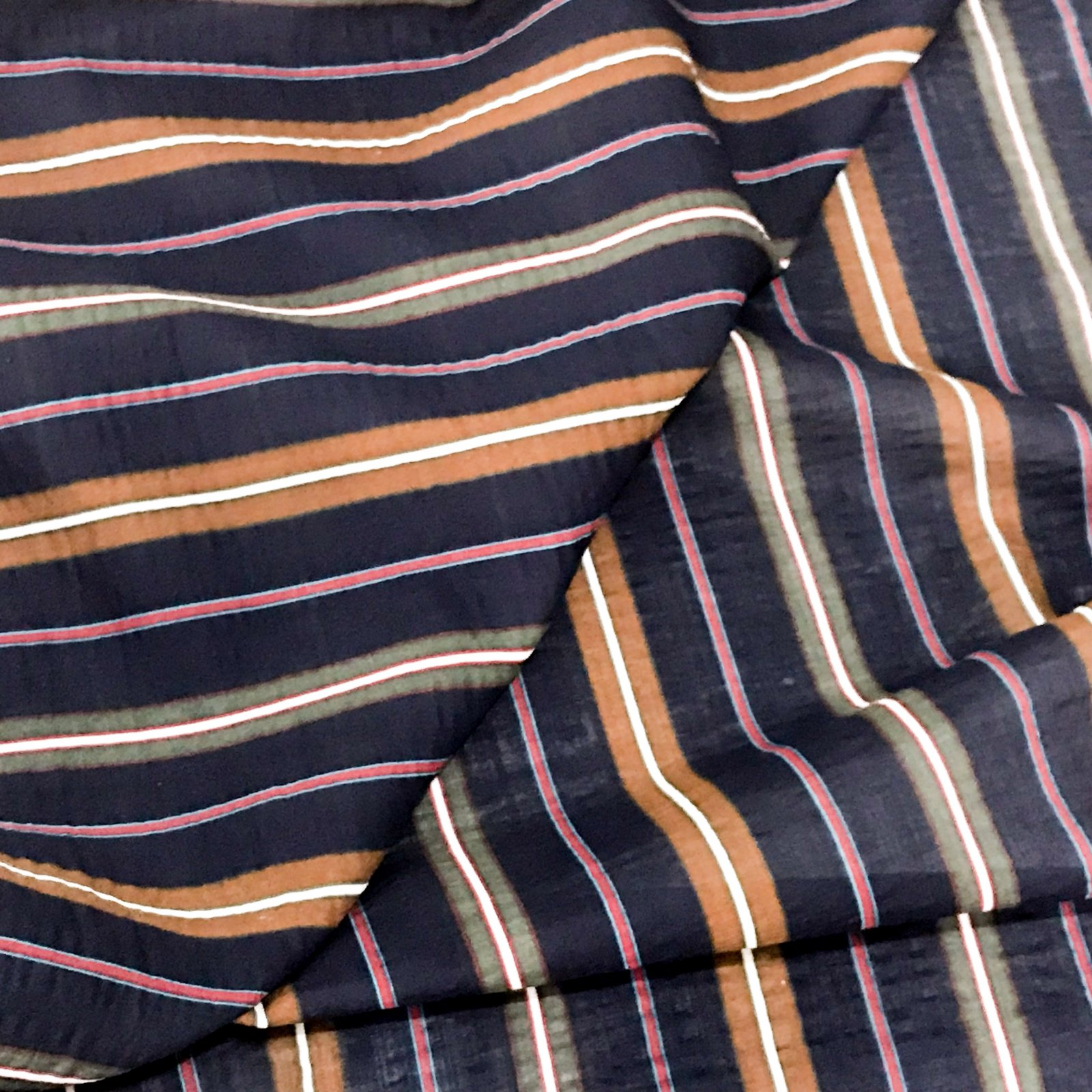 Verona Voile - Navy Stripes