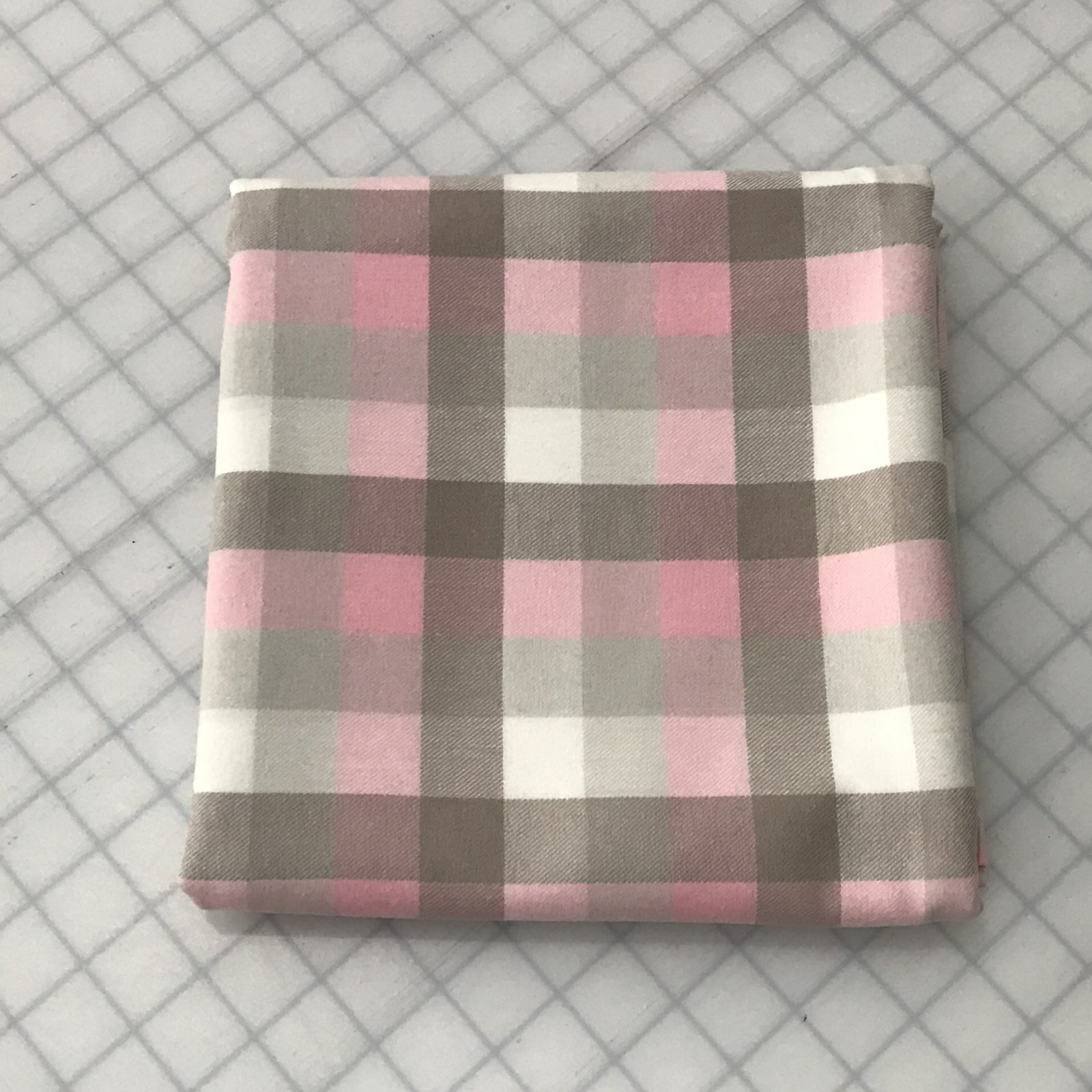 Soft Flannel - White/Oat/Pale Pink - 1 1/2 yard
