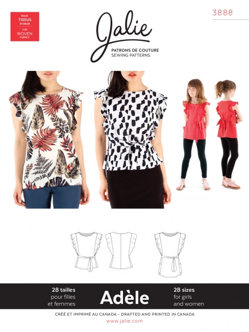 Jalie - Adele Flutter Sleeve top and tunic