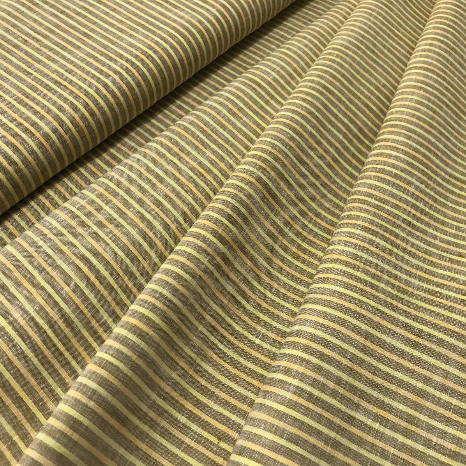 Linen - Yellow & Tan Stripes