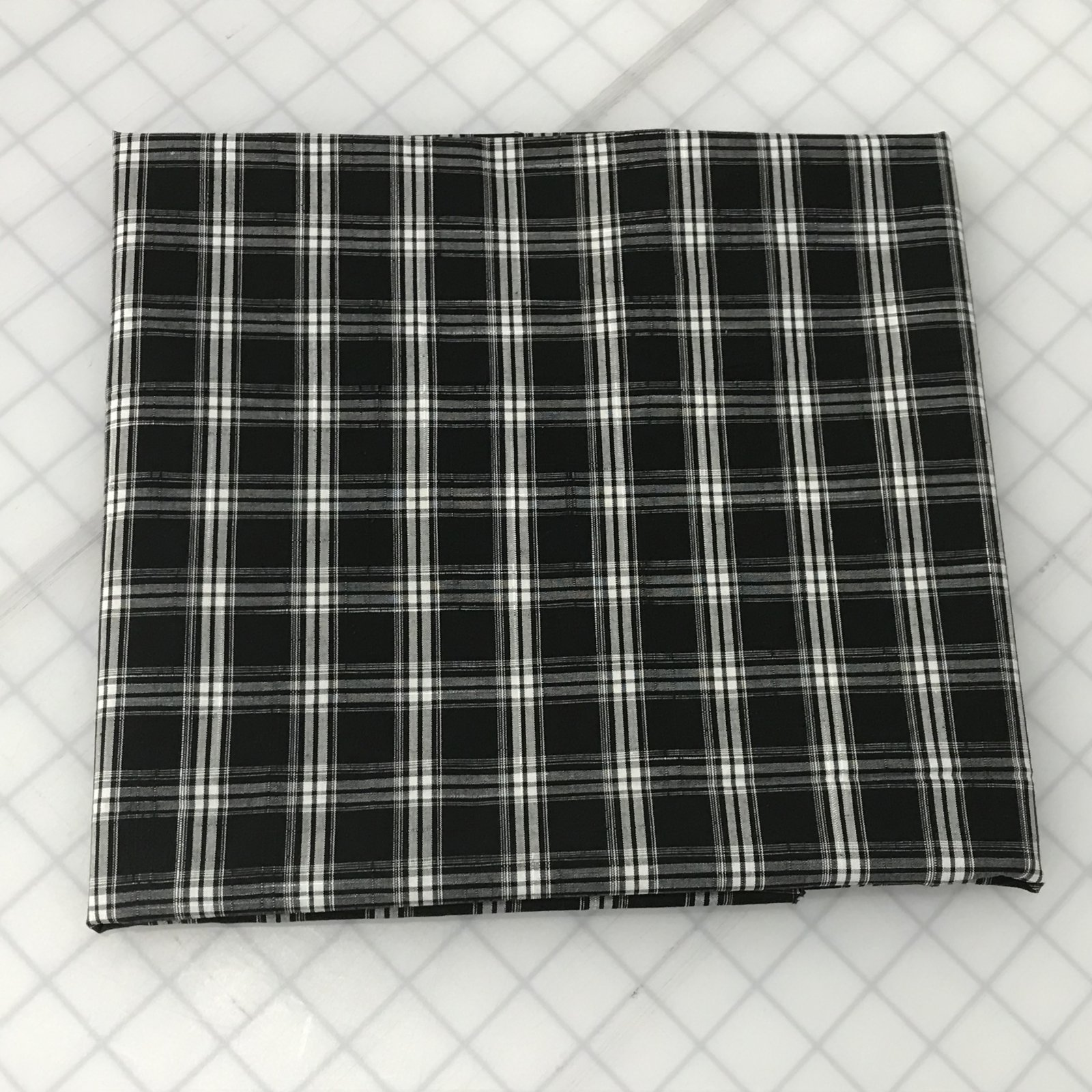 Shirting - Black & White Plaid - 1 1/8 Yard