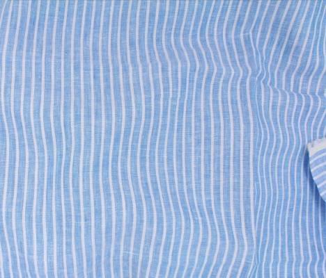Linen Romsey Stripe - Aqua