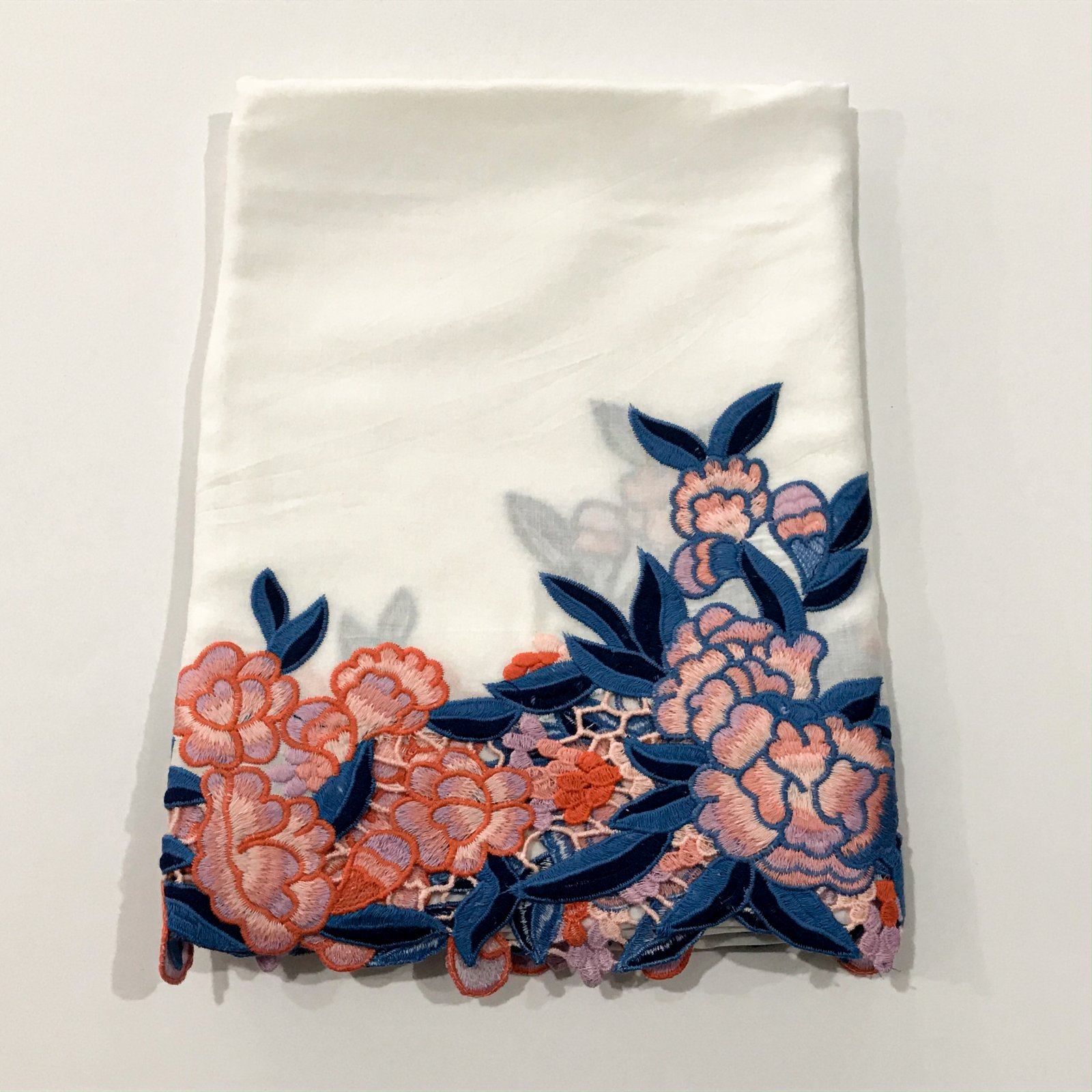 Embroidered Border Rayon - 2 yards