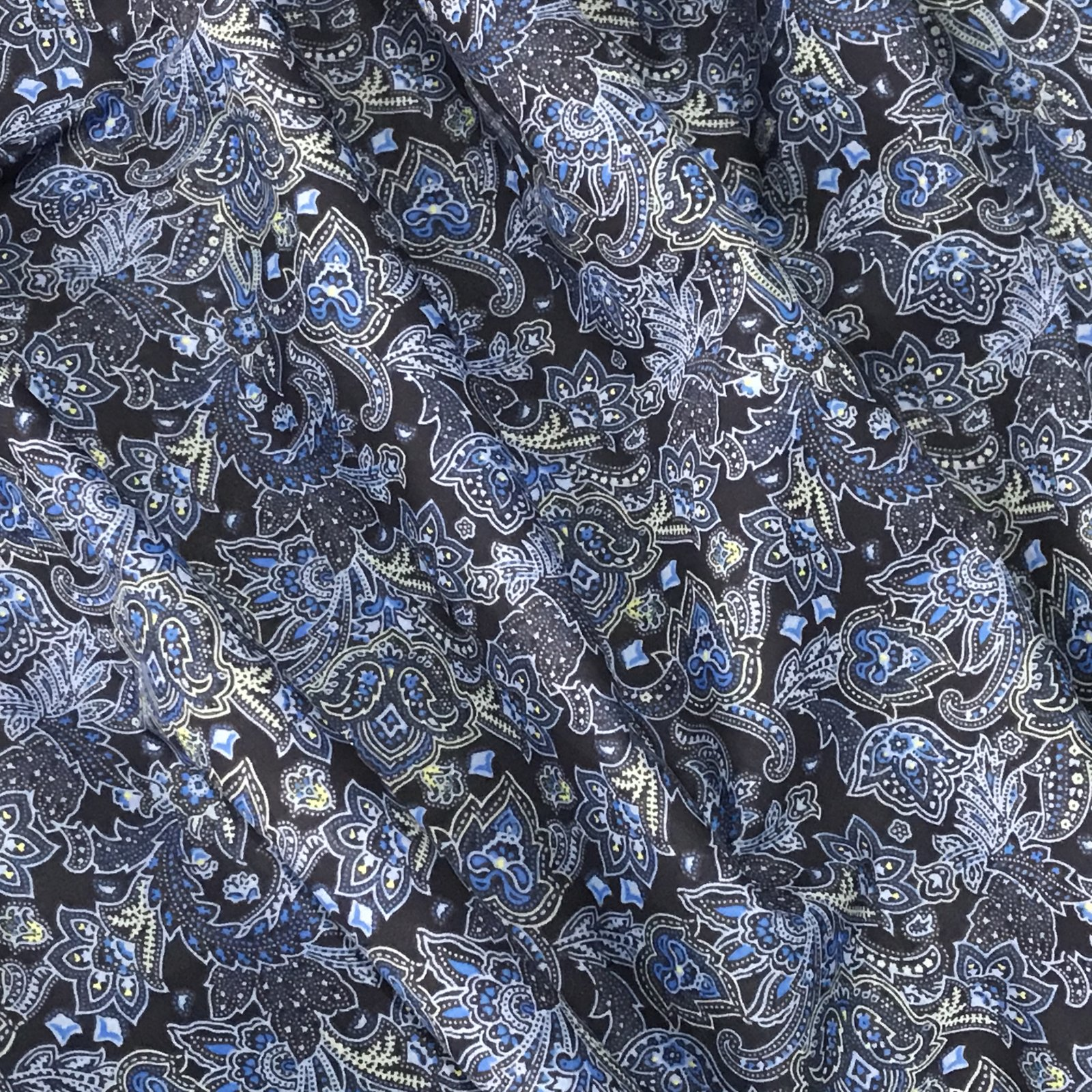 Cotton - Blue Tonal Paisley