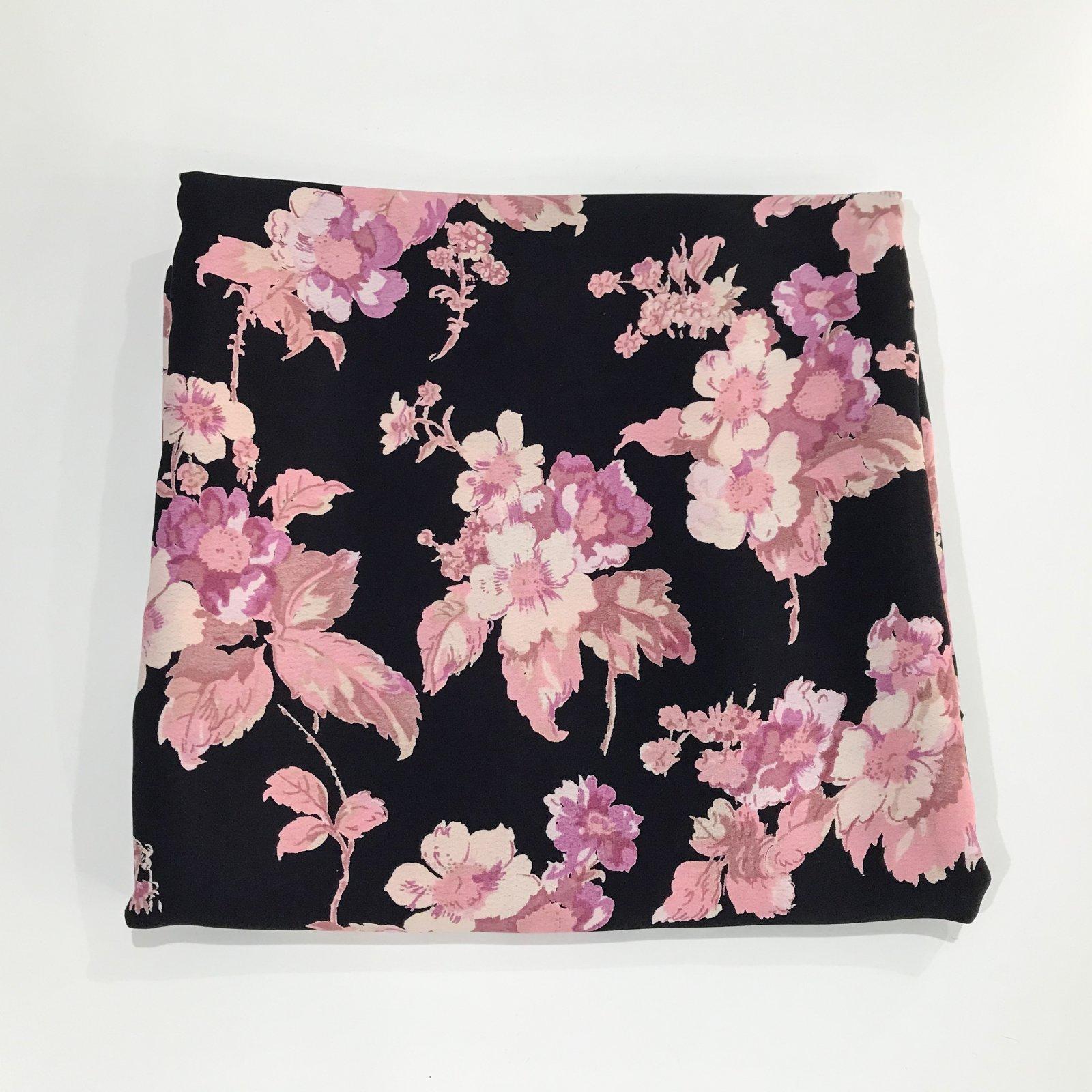 1 yard + 33 inches - Rayon - Blushing Dramatic Floral Crepe