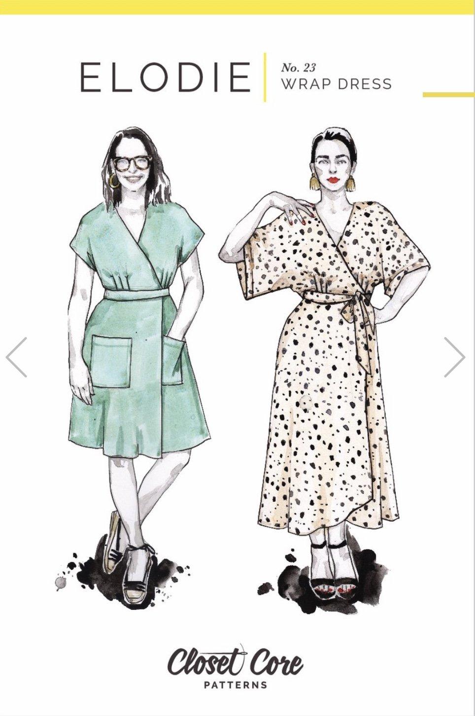 Closet Core Patterns - Eloide Wrap Dress Pattern