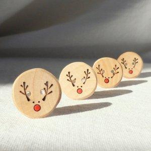 Buttons - Handmade Reindeer